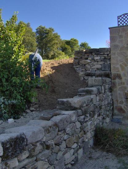 mur en talus